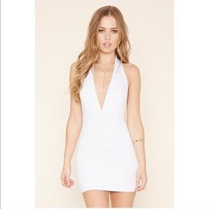 Dresses & Skirts - White Halter Top Backless Dress